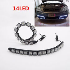 Pair White COB Flexible Daytime Running Turn Signal  LED DRL Driving Fog Light