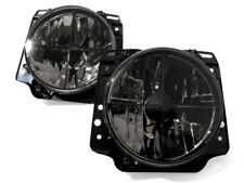 VW Golf MK2 2 Crystal Clear Black Euro E-Code Sport Headlight Headlamp Crosshair