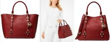 💘🎁NWT MICHAEL KORS BEDFORD LEGACY LEATHER LARGE GRAB TOTE Brandy/Gold  $358