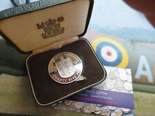 More details for 1972 queen elizabeth ii guernsey silver proof crown coin qeii & prince philip