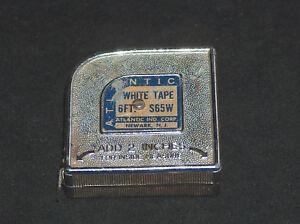 """VTG Atlantic Ind. Corp. Newark N.J. 2"""" S65W 6FT White Measuring Tape Made In USA"""