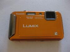 Panasonic LUMIX DMC-TS20 16.1MP Digital Camera - Orange - TESTED WORKING