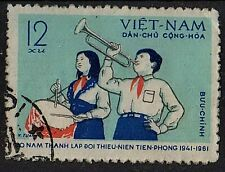 VIETNAM 1961 20th anniversary Pioneer Organization Boy Girl Horn Used 12xu STAMP
