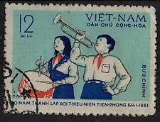 VIETNAM 1961 Bugler and Drummer Young Pioneers 20th Anniv./Mi:VN 161/ 12xu STAMP