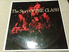 "THE CLASH - SPANISH 12"" LP SPAIN CBS 88 - THE STORY OF THE CLASH - PUNK"