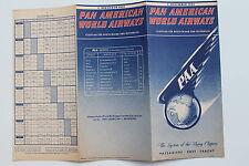 20928 PAN AMERICAN WORLD AIRWAYS PAA Flugplan Time Table Deut. Austria 1.12.1951
