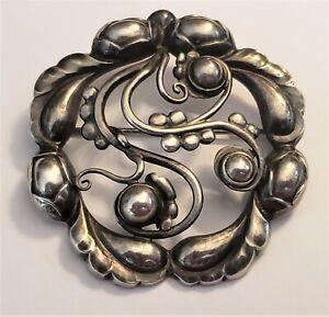 Vintage Georg Jensen Sterling Silver Brooch MOONLIGHT# 159  W/Hallmarks NICE!!!