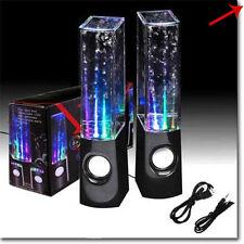 SPEAKER CASSE PC ALTOPARLANTI AD ACQUA LED SMARTPHONE TABLET PC WATER DANCING