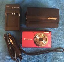 Canon PowerShot A2300 16.0MP HD Digital Camera - Pink/Red, Optical Zoom 5X, Digi