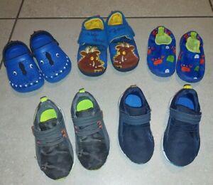 Boys Shoes Bundle x 5 pairs Trainers,  slippers,  water/aqua Next size infant 6