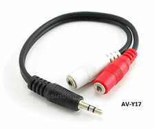 "6"" 3.5mm Stereo Male to Dual 3.5mm Mono Female Left/Right Adapter Cable, AV-Y17"