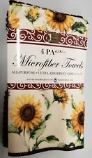 """4 pc SET Microfiber Towels (ultra absorbent) (16"""" x 19"""") SUNFLOWERS by BH"""