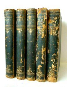 Goethe's Werke 5 VOLUMES by Johann Wolfgang von Goethe ILLUSTRATED HB BOOKS