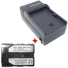 Battery&Charger for SAMSUNG SC-D67/XAA SC-D6040 SC-D6550 Mini-DV Video Camcorder