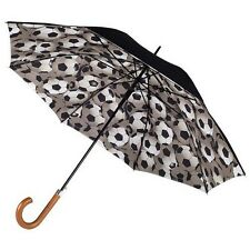 Totes Mens Double Canopy Walker Long Umbrella with Football Print Underside