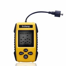 Erchang Portable Fish Finder, Fishfinder Tackle Fishes with Wired Sonar Sensor