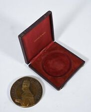 1939 Bronze Medallion Pope Pius XII by Albert de Jaeger in Monnaie de Paris Box