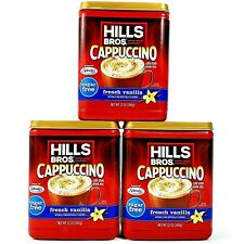 Hills Bros Cappuccino French Vanilla Sugar Free Cafe Coffee Mix Drink Lot of 3