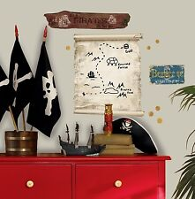 PIRATES TREASURE MAP Giant DRY ERASE Wall Decals Room Decor Vinyl Stickers SIGNS