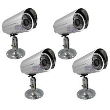 "Set of 4x New 36 IR LED Sony 1/3"" CCD Weatherproof Security LEDs Camera /N1"