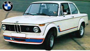 1973/1974 BMW 2002 TURBO SPEC SHEET/Brochure/Catalog/