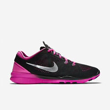 NIKE WOMENS FREE 5.0 TR FIT 5 SHOES SIZE 11 black silver pink 704674 002