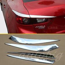 Tail Light Cover FOR Mazda3 BM Sedan 2014+ Chrome Rear Trim Accessories Molding