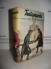 LIBRO R.C.Hutchinson TESTAMENTO 4^ed.1940 Traduzione Maria Zotti G.Perego☺