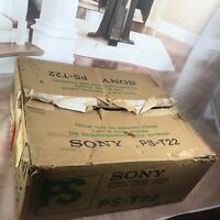 Sony Model PS-T22  Box and Instructions