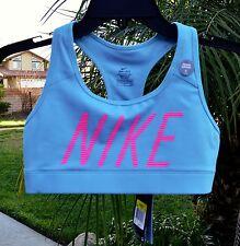 0c01dcd946a9d NWT NIKE Dri-Fit Women s sky Blue Athletic Yoga Racerback Sports Bra Size  ...