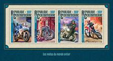 More details for central african rep motorcycles stamps 2016 mnh harley davidson honda 4v m/s