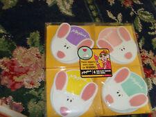 Hallmark Maxine Slippers Whining Rare Bunny Rabbit set 4 whine glass coasters
