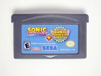 Sonic Advance & Sonic Pinball Party game for Nintendo Game Boy Advance -Loose