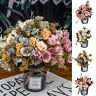 LD_ CN_ 1Pc Artificial Rose Flower Fake Plant Wedding Party Restaurant Home De