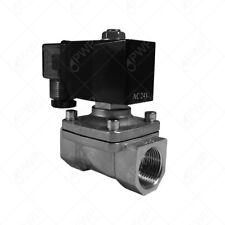 """24V 1/2"""" NPT Normally Closed Stainless Steel Viton 2-Way Solenoid Valve"""