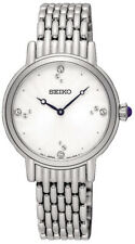 Seiko Cristales de cuarzo analógico para mujer de acero inoxidable Reloj SFQ805
