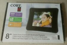 Coby DP860 Digital Photo Frame w Multimedia Playback & Remote  NEW