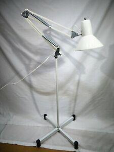 Vintage Swing Arm Articulating Desk Floor Lamp Architect Drafting Adjustable MCM