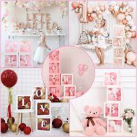 Girl Boy Baby Shower Transparent Balloon Box Birthday Party Wedding Decoration