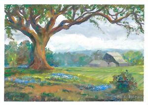 original painting A3 218MA art samovar impressionism Gouache landscape Signed