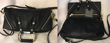 NWT $345 Cynthia Rowley Soft LEATHER Abbey Convertible Tote Bag Purse Black