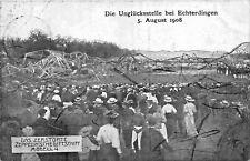 ZEPPELIN LUFTSCHIFF MODELL 4 ~ REMAINS FROM CRASH 5 AUGUST 1908 ~ POSTCARD