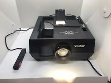 VIVITAR 5000AF Auto Focus 35mm Slide Film Projector w/ Remote No Carousel. As Is