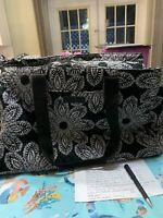 Vera Bradley Triple Compartment Travel Bag In Villager Blanco Bouquet
