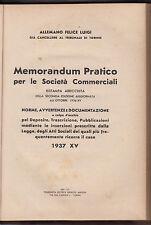 ALLEMANO FELICE LUIGI-MEMORANDUM PRATICO PER LE SOCIETA' COMMERCIALI 1937-N15