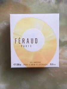 RARE BRAND NEW SEALED--  FERAUD PARIS SHOWER GEL 200ML