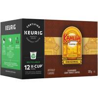 12 Pack Single Serve Kahlua Original Light Roast Coffee K-Cup® Pods