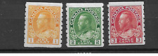 1922 MH Canada Mi 105-7D coil stamps