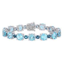 Amour Sterling Silver Sky & London-Blue Topaz Bracelet