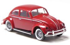 H0 BREKINA Volkswagen VW Käfer de Luxe Export Exportmodell weinrot chrom # 25044